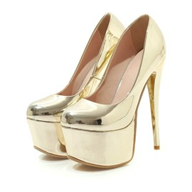 Ericdress Slip-On Platform Stiletto Heel Pointed Toe Women's Prom Shoes
