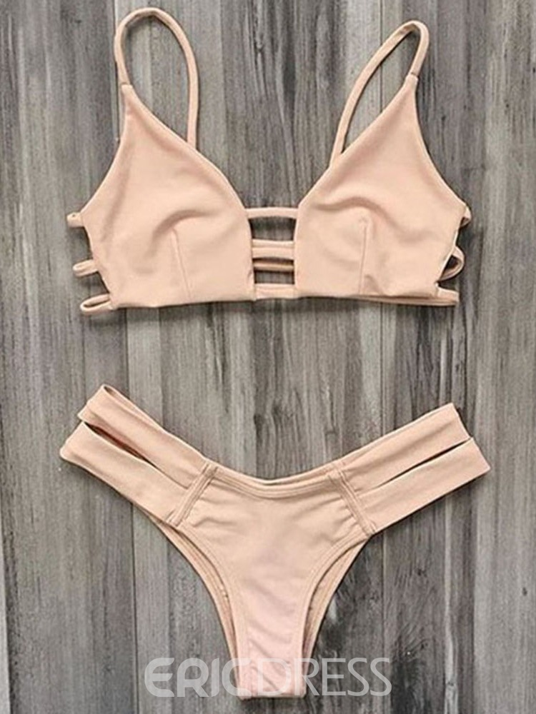 Ericdress Sexy Plain Bikini Set Swimwear