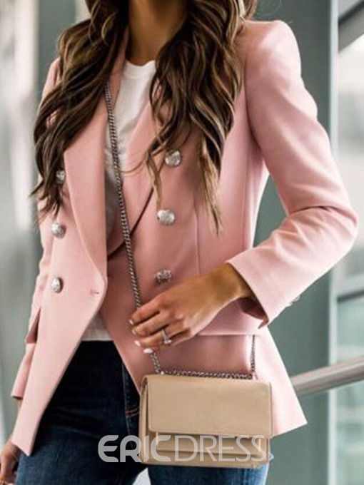 Ericdress Double-Breasted Long Sleeve Notched Lapel Standard Casual Blazer