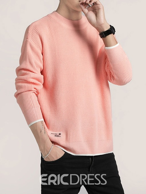 Ericdress Color Block Standard Loose Sweater
