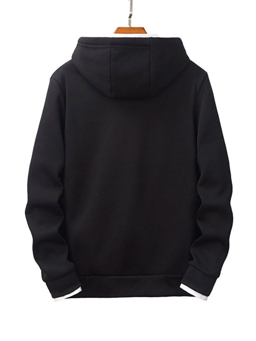 Ericdress Pocket Pullover Plain Casual Men's Hoodies