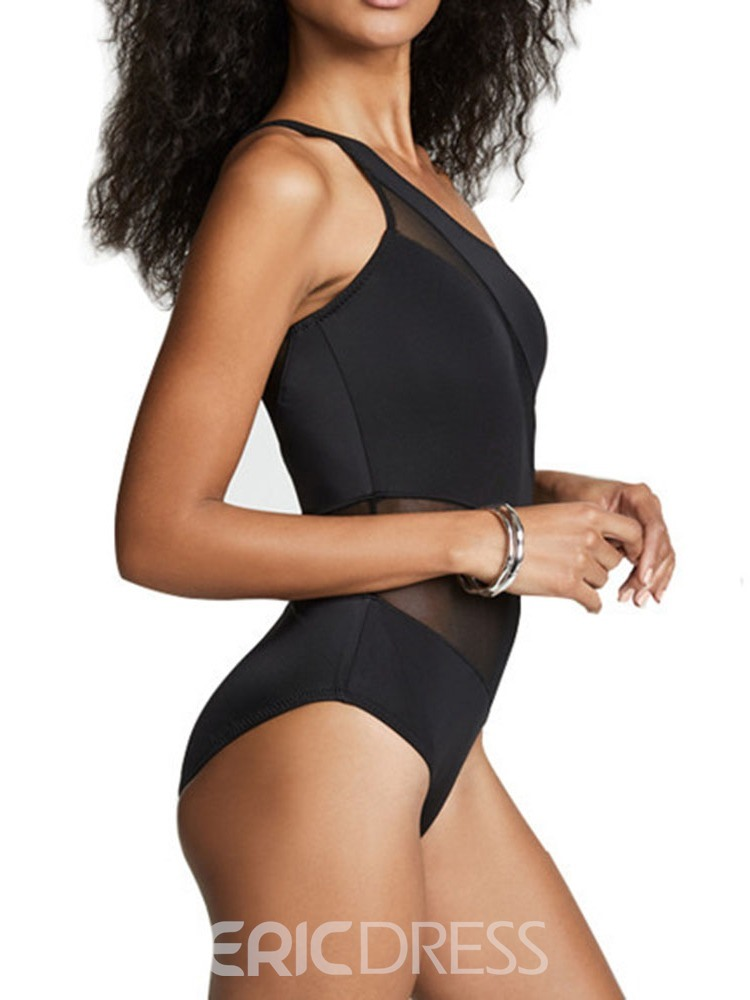 Ericdress Plain Sexy Hollow Out One Piece Swimwear