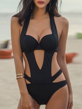 Ericdress Sexy Plain One Piece Swimwear