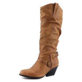 Ericdress Round Toe Chunky Heel Women's Riding Boots