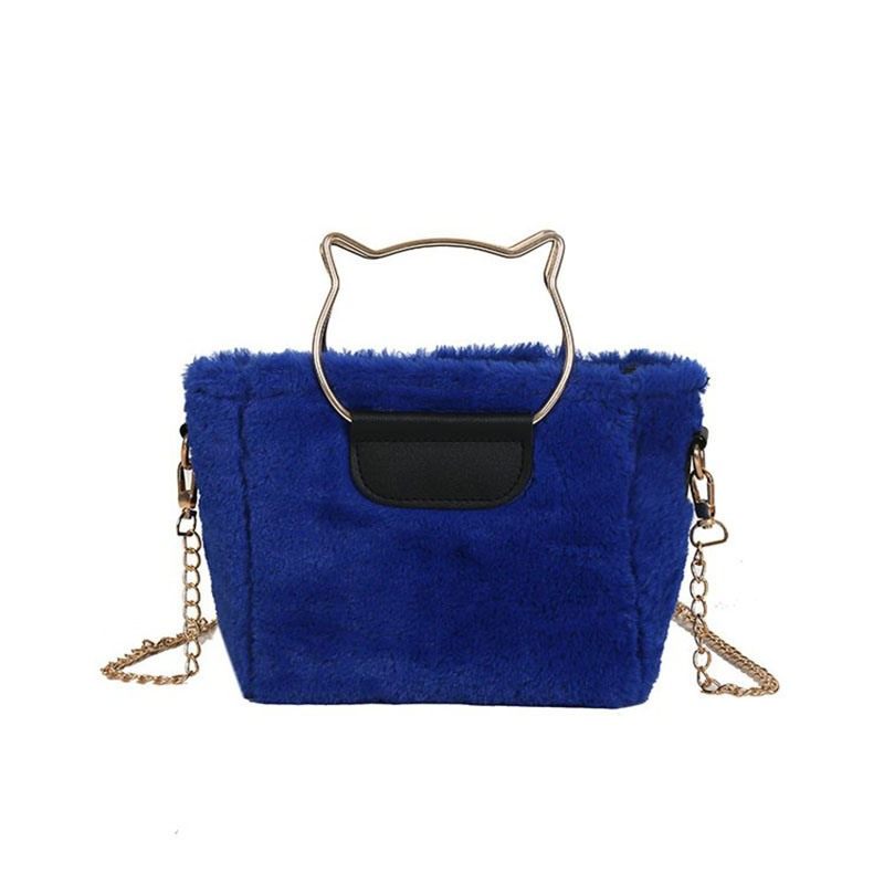 Ericdress Plain Faux Fur Rectangle Tote Bags