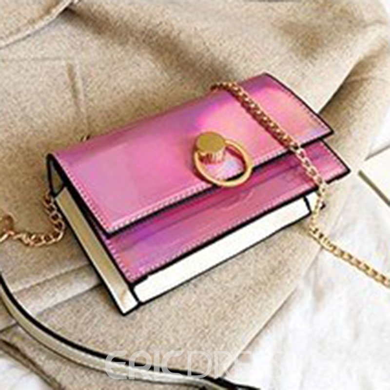 Ericdress Plain Chain Rectangle Crossbody Bags