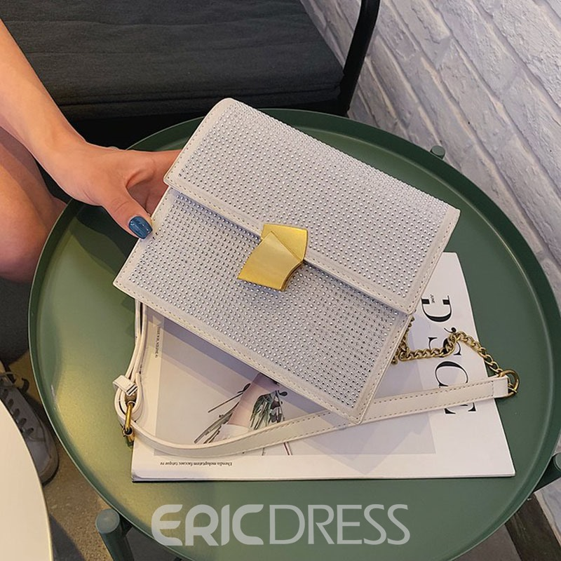 Ericdress PU Rivet Flap Crossbody Bags
