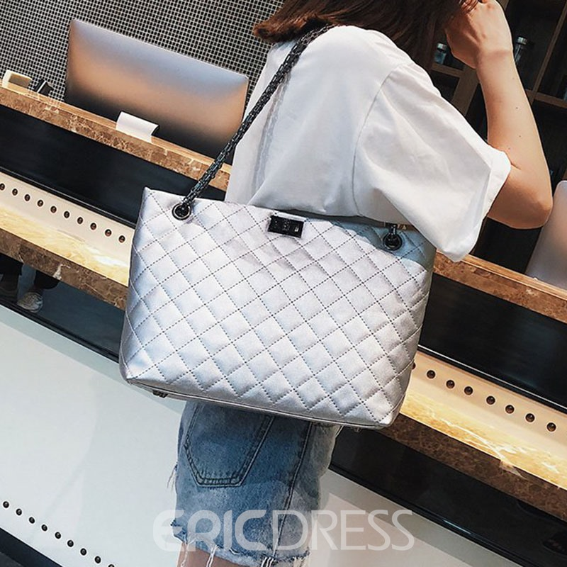 Ericdress Plaid Chain Rectangle Shoulder Bags