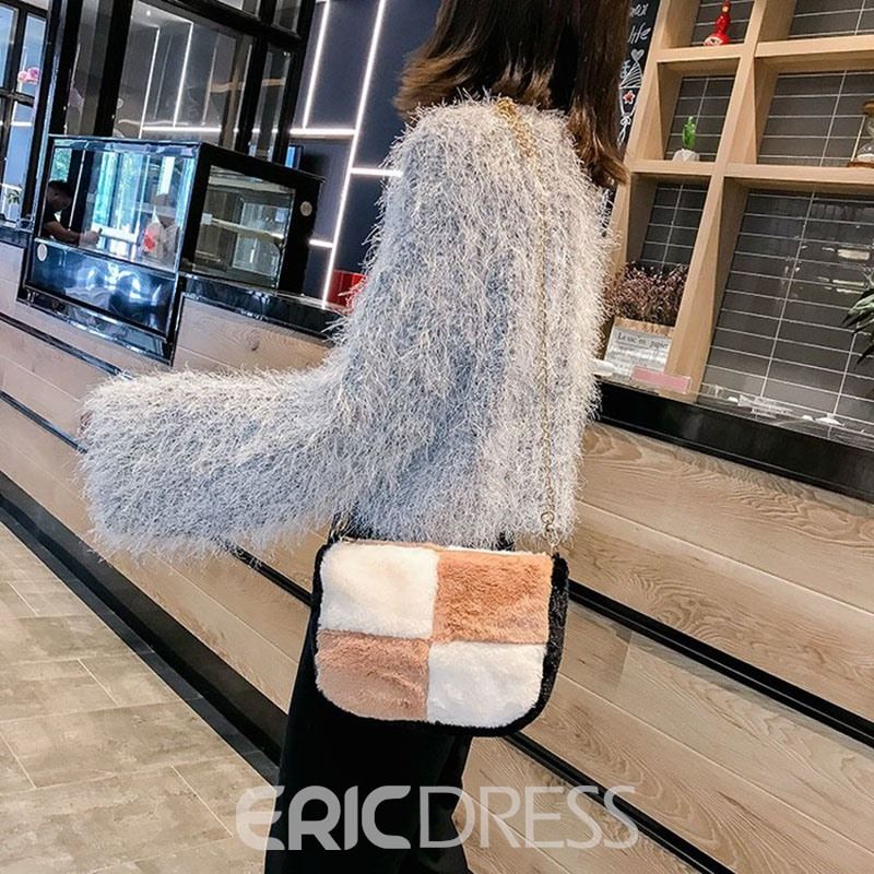 Ericdress Color Block Saddle Crossbody Bags
