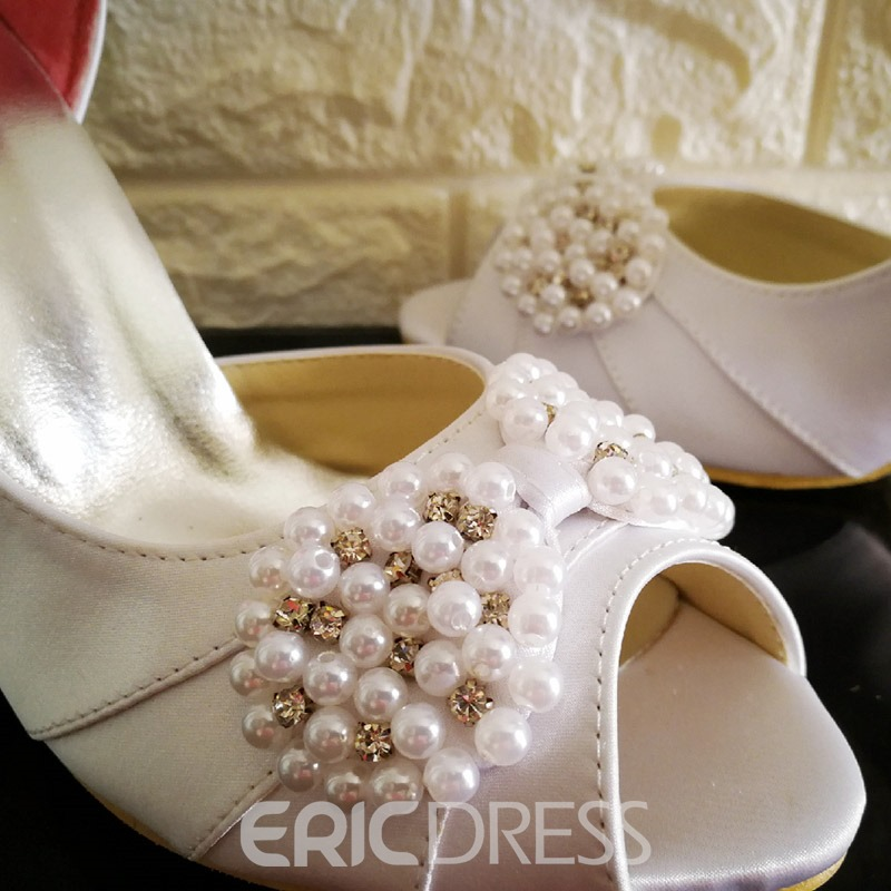 Ericdress Pretty Pearls High Heel Wedding Shoes