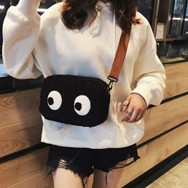 Ericdress Faux Fur Cartoon Thread Flap Crossbody Bags