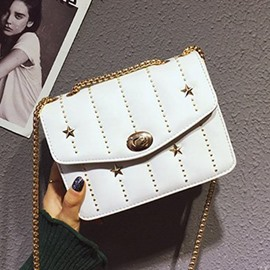 Ericdress Rivet PU Rectangle Crossbody Bags