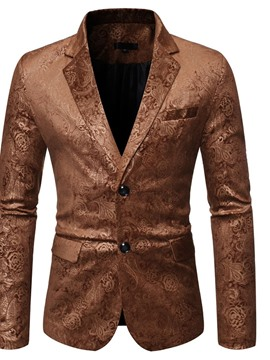 Ericdress Notched Lapel Single-Breasted Button Leisure Men's Blazers