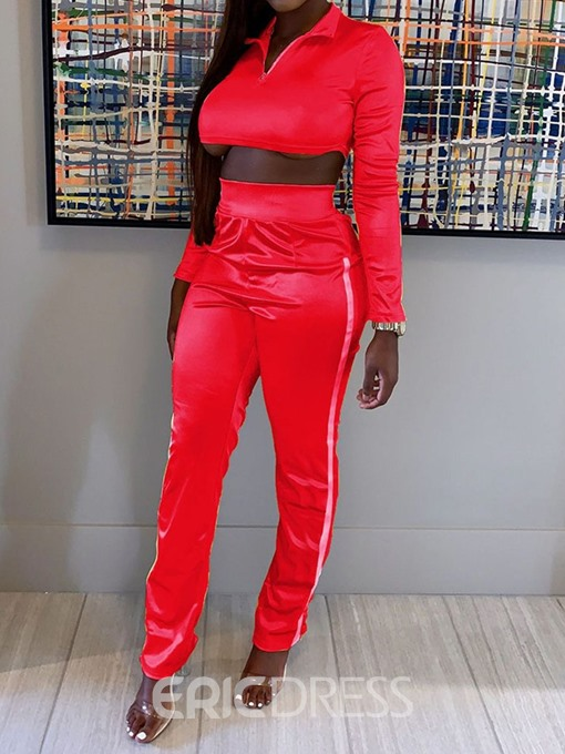 Ericdress Sports Color Block Two Piece Sets