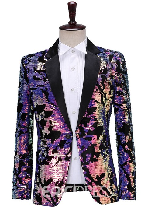 Ericdress Block Sequins Fashion Stage Costumes Men's Blazers