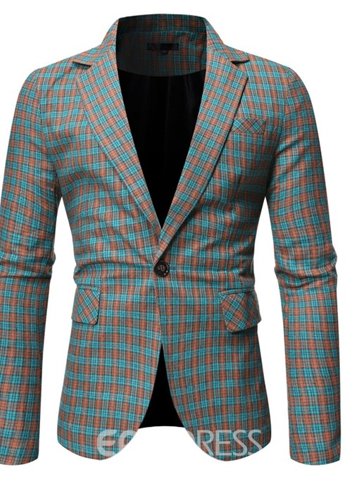 Ericdress Fashion Notched Lapel One Button Leisure Men's Blazers