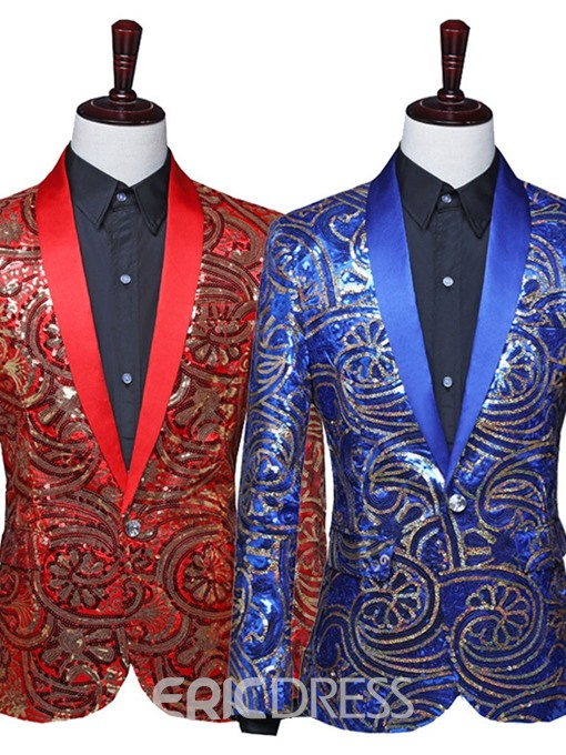 Ericdress Patchwork Color Block Fashion Stage Costumes Men's Blazers