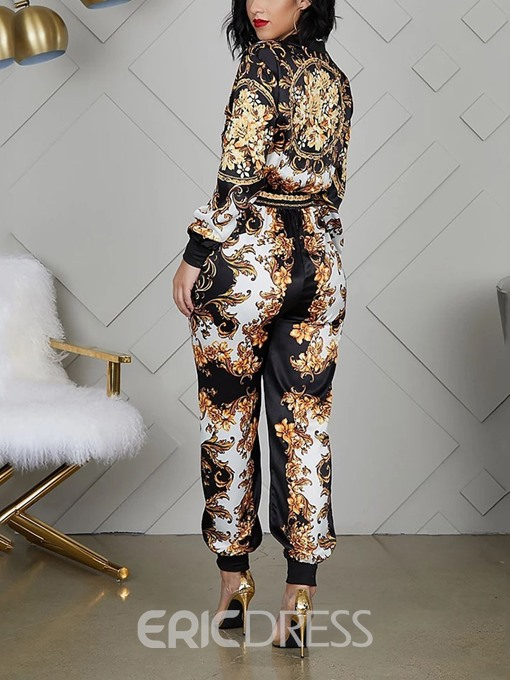 Ericdress Print Animal Sexy Slim Color Block Jumpsuit