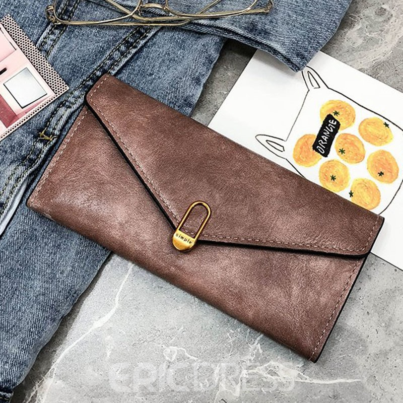 Ericdress PU Magnetic Snap Long Wallets