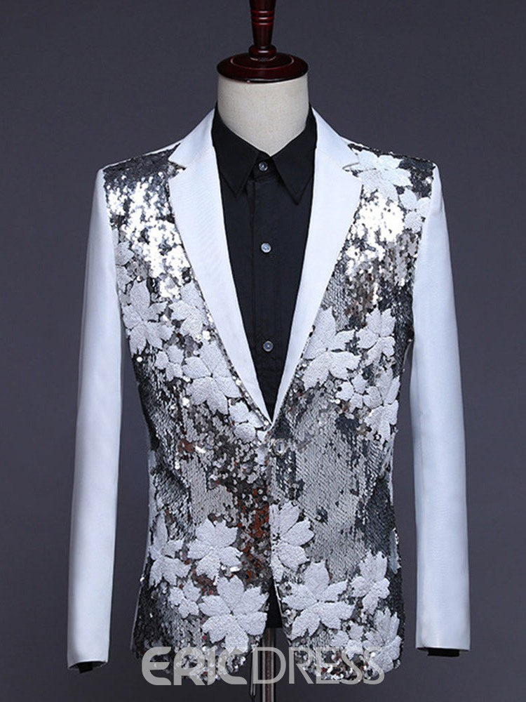 Ericdress Color Block Sequins Fashion Stage Costumes Men's Blazers