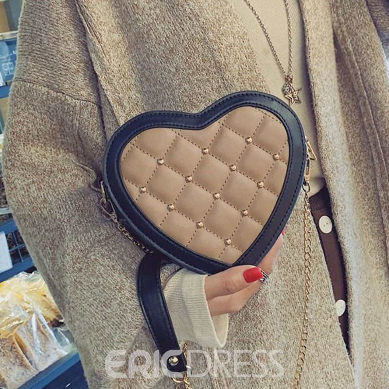 Ericdress Rivet PU Crossbody Bags