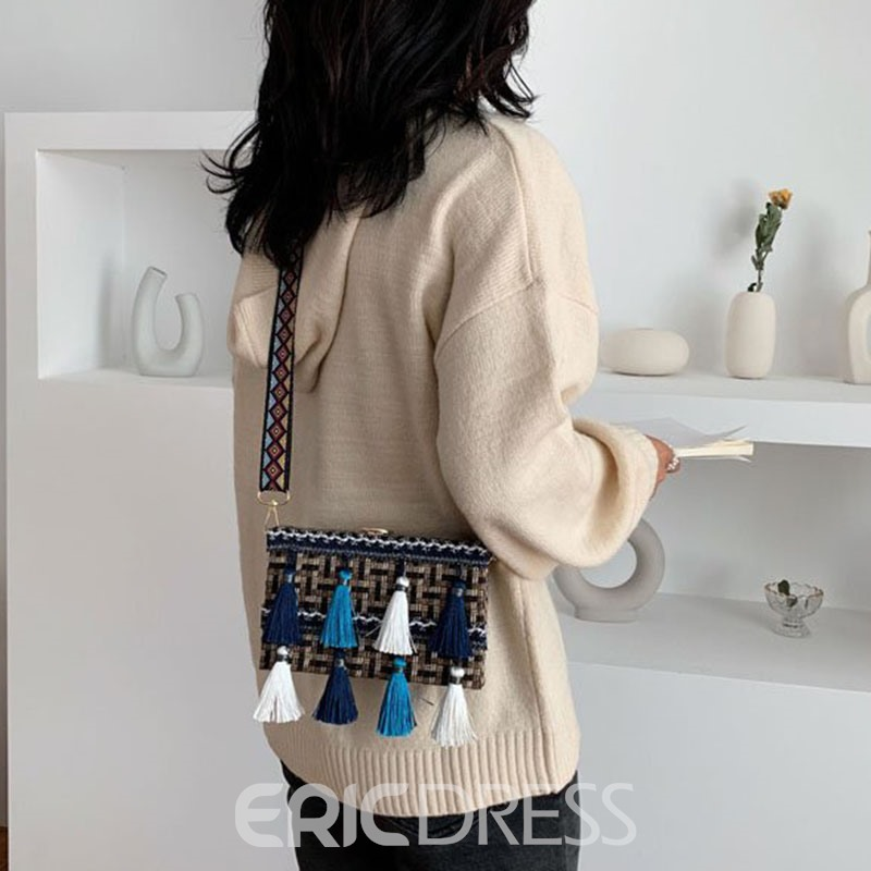 Ericdress Knitted Trunk Crossbody Bags