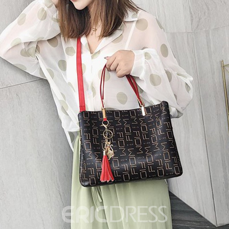Ericdress PU Geometric Rectangle Tote Bags