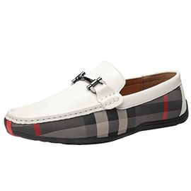 Ericdress Plaid Slip-On Round Toe Men's Shoes