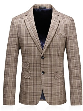 Ericdress Slim Single-Breasted Print Men's Blazer