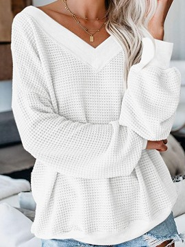 Ericdress Regular Fall V-Neck Sweater