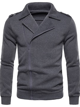 Ericdress Zipper Cardigan Plain Men's Hoodies