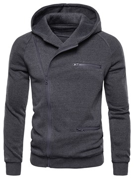 Ericdress Zipper Cardigan Plain Loose Men's Hoodies