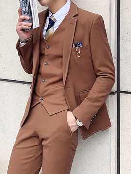 Ericdress Pocket Color Block Korean Men's Dress Suit