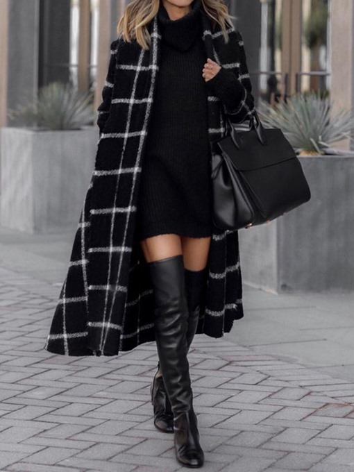 Ericdress Single-Breasted Loose Lapel Winter Overcoat