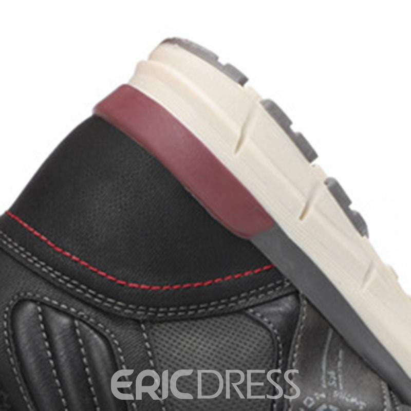 Ericdress Lace-Up Front Round Toe Patchwork Men's Snow Boots