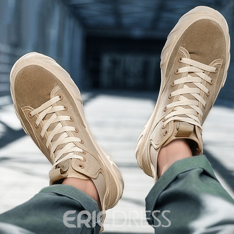 Ericdress Patchwork High-Cut Upper Round Toe Men's Skate Shoes