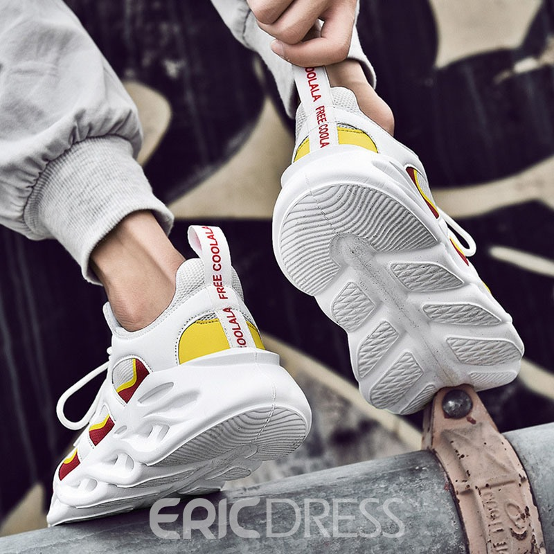 Ericdress Patchwork Color Block Low-Cut Upper Men's Sneakers