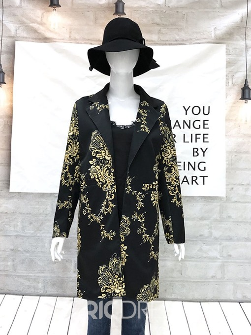 Ericdress Straight Long Fall Overcoat