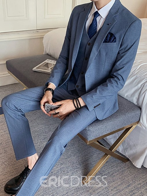 Ericdress Korean Pocket Plain Men's Dress Suit