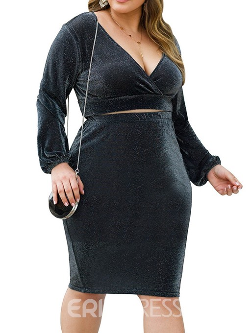 Ericdress Plain Pullover Two Piece Sets