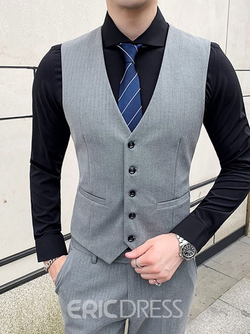 Ericdress Button Pants One Button Men's Dress Suit