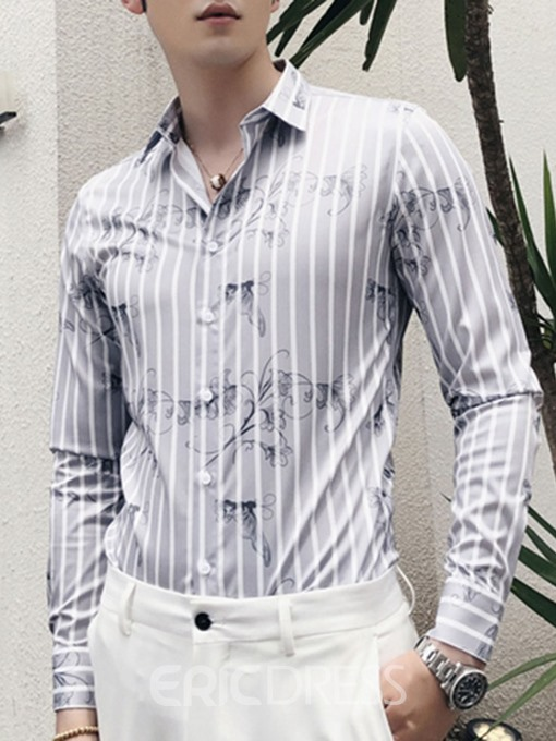 Ericdress Lapel Korean Button Spring Single-Breasted Men's Shirt