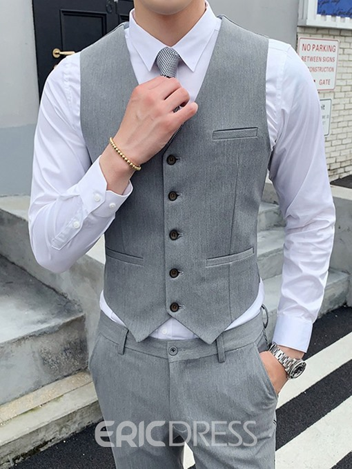 Ericdress Color Block Pocket Korean Men's Dress Suit