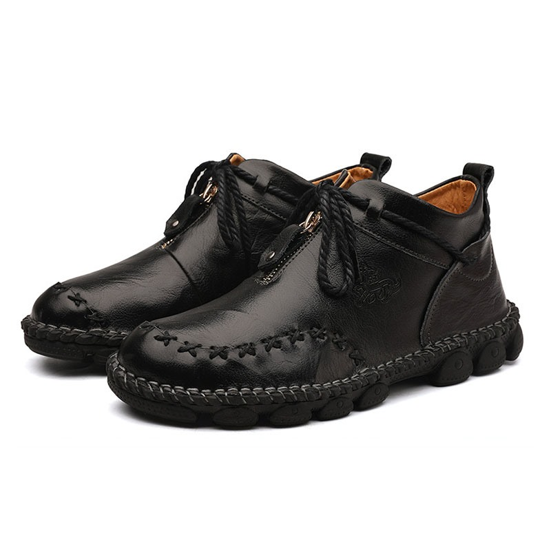 Ericdress Plain Lace-Up Round Toe Men's Casual Shoes