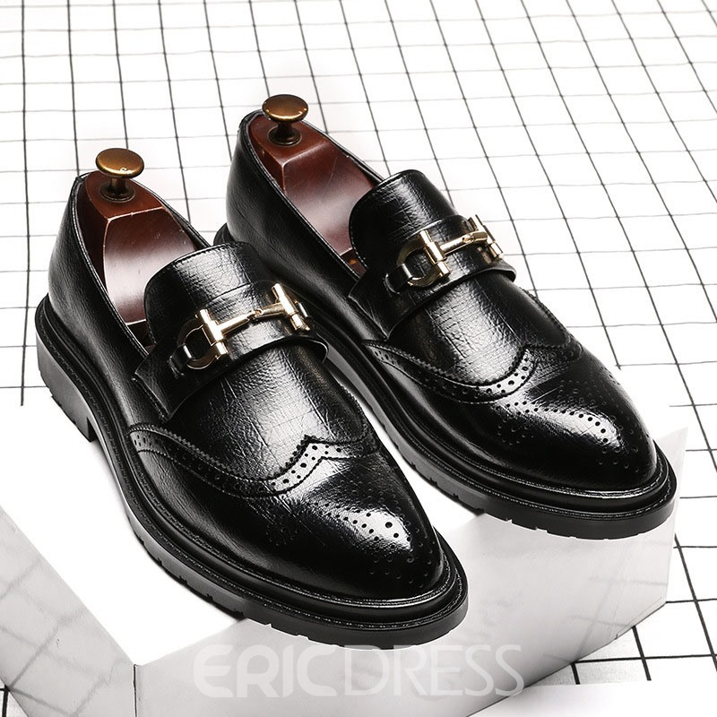 Ericdress Plain Low-Cut Upper Pointed Toe Men's Work Shoes