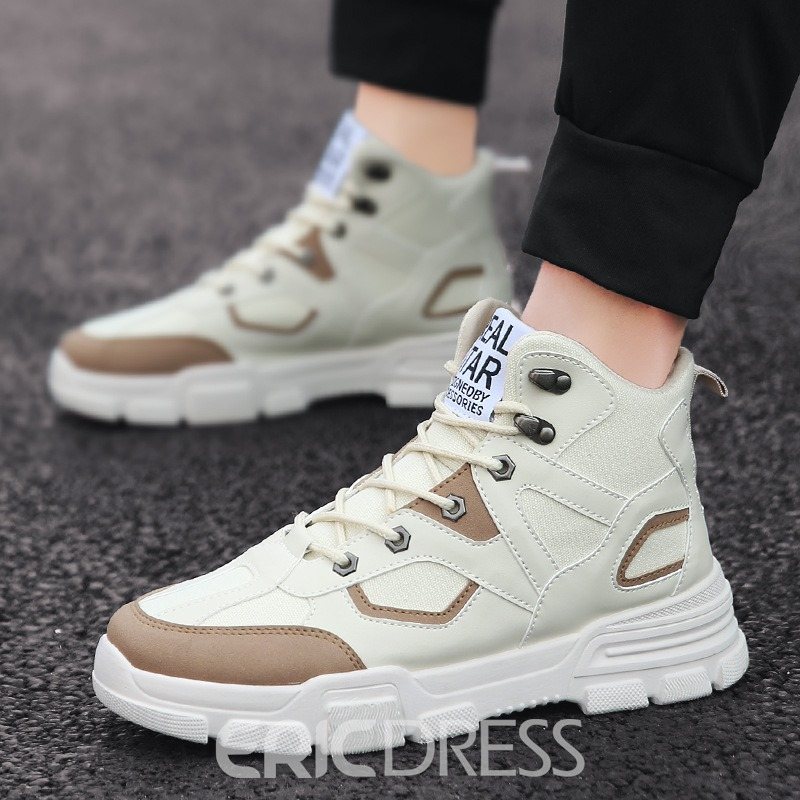 Ericdress Canvas Lace-Up Round Toe Men's Sneakers