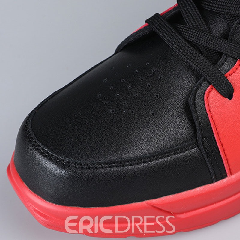 Ericdress High-Cut Uppe Color Block Round Toe Men's Skate Shoes
