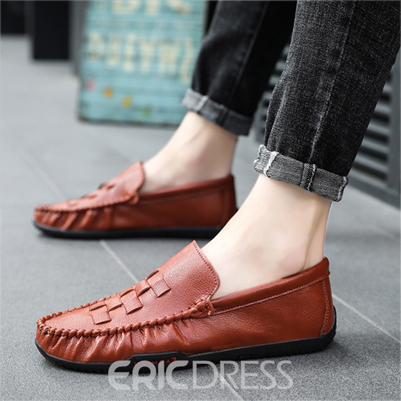 Ericdress Plain Slip-On Round Toe Slip-On Men's Casual Shoes