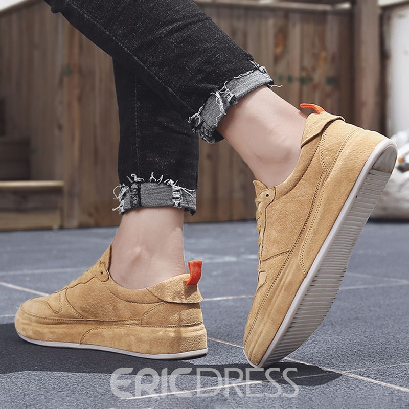 Ericdress Low-Cut Upper Patchwork Round Toe Men's Skate Shoes