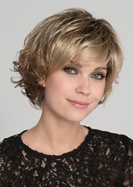 Ericdress Women's Short Bob Layered Hairstyle Natural Straight Synthetic Hair Wigs Capless Wigs 14Inch